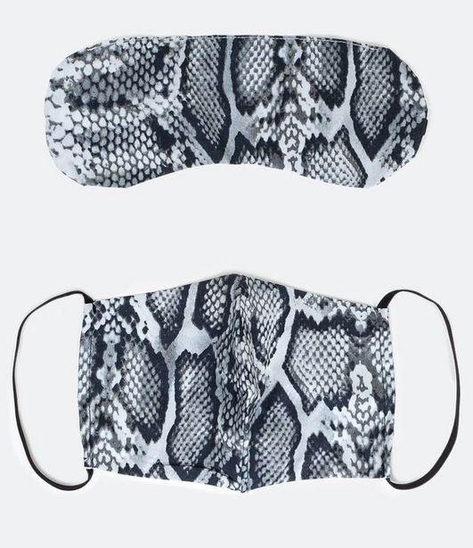 Oferta de Kit Máscara de Tecido e Máscara de Dormir  por R$5,9