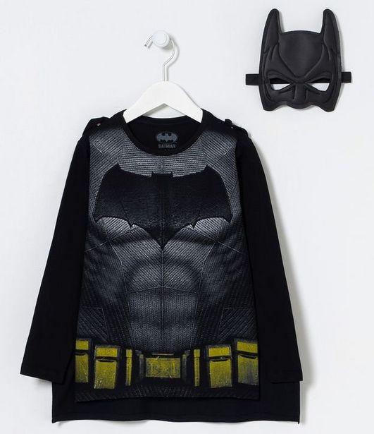 Oferta de Camiseta Infantil Batman com Acessórios - Tam 2 a 10 anos  por R$39,9