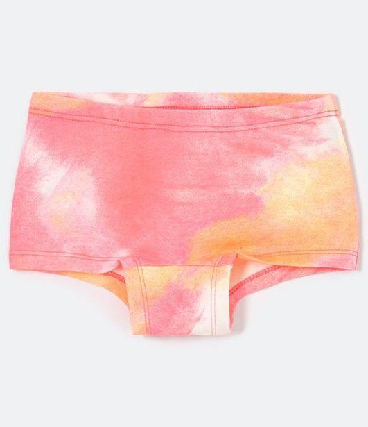 Oferta de Calcinha Infantil Estampa Tie Dye - P ao GG  por R$9,9