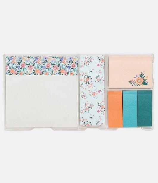 Oferta de Kit de Post-it Liso e Floral  por R$19,9