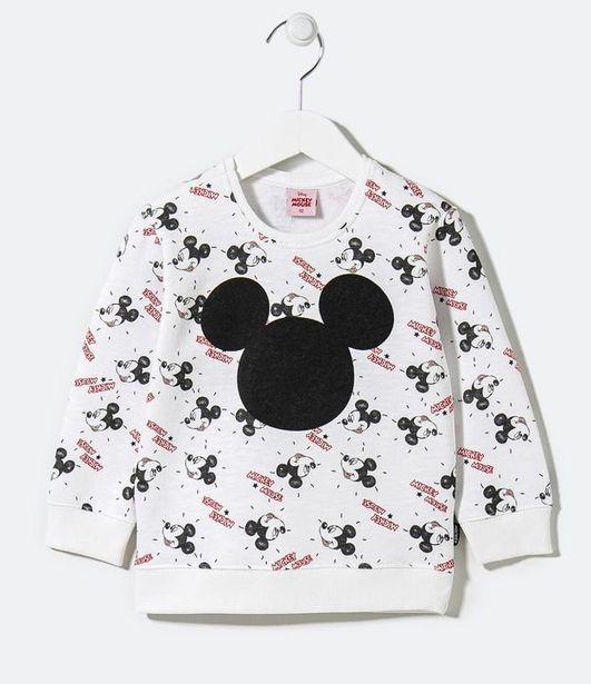 Oferta de Blusão Infantil em Moletom Estampa Mickey - Tam 1 a 5 anos  por R$39,9