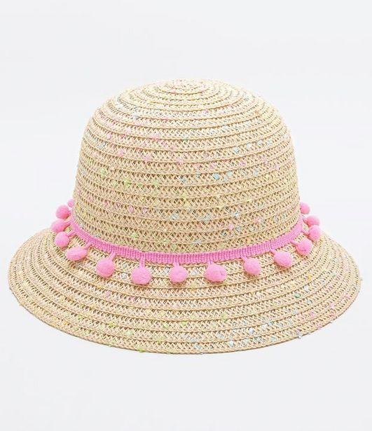 Oferta de Chapéu Infantil com Mini Pompons - Tam U  por R$9,9