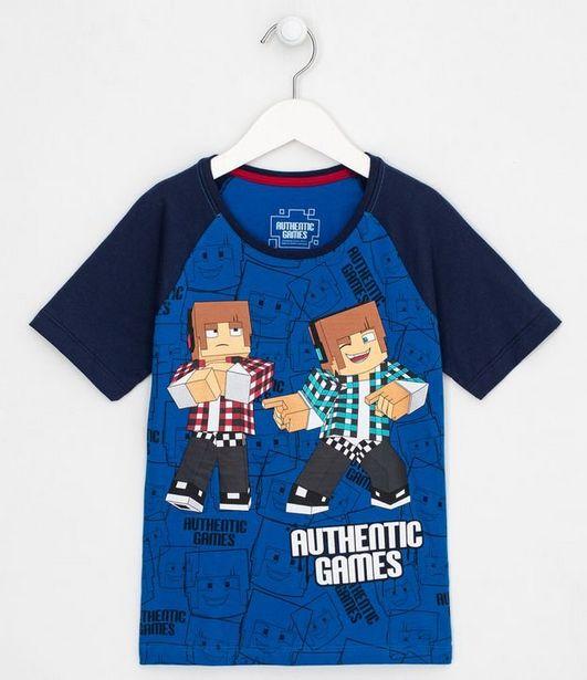 Oferta de Camiseta Infantil Raglan Authentic Games - Tam 5 a 14 anos  por R$29,9