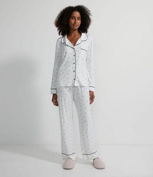 Oferta de Pijama Americano Longo em Viscolycra com Estampa Best Mom  por R$119,9