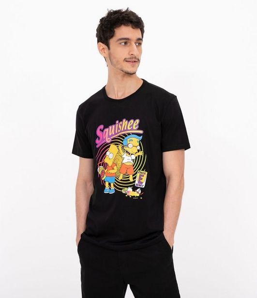 Oferta de Camiseta Manga Curta Estampa Bart Simpsons  por R$19,9