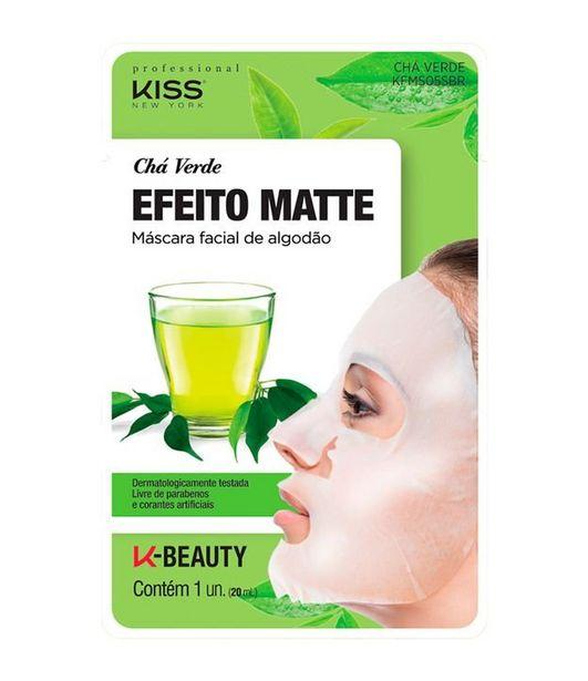 Oferta de Máscara Facial de Algodão Chá Verde Kiss  por R$8,4