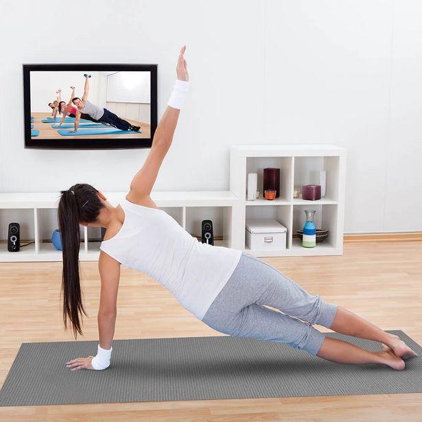 Oferta de Tapete Para Yoga Kapazi Yogakap com 0,5mmx0,60x1,66m Cinza por R$89,99