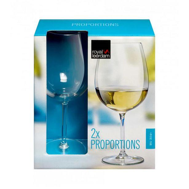 Oferta de Jogo de Taças Para Vinho Libbey Proportions 580ml 2 Peças por R$49,99
