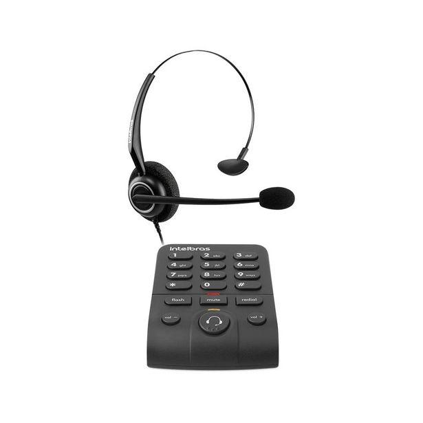 Oferta de Telefone Intelbras Headset com Base Discadora Hsb50 Preto por R$139,99