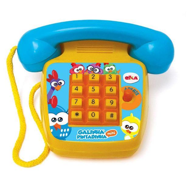 Oferta de Telefone Sonoro - Galinha Pintadinha Mini por R$89,99
