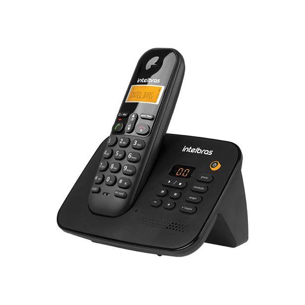 Oferta de Telefone Intelbras sem Fio com Secretária Eletrônica Ts3130 Preto por R$189,99