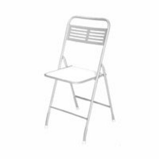 Oferta de Cadeira Dobrável Metalnew Millenium Aço com Assento Branca por R$169,99