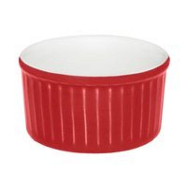 Oferta de Conjunto de Ramequin Oxford Vermelho de Porcelana com 3 Peças por R$29,99