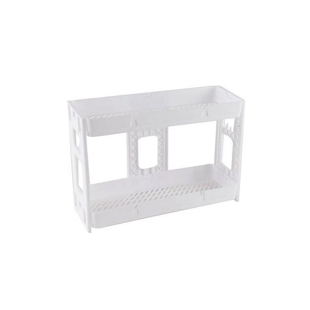 Oferta de Estante de Plástico Multiuso Le Loft Empilhável com 2 Prateleiras Branca 37x12,5x7cm por R$39,99