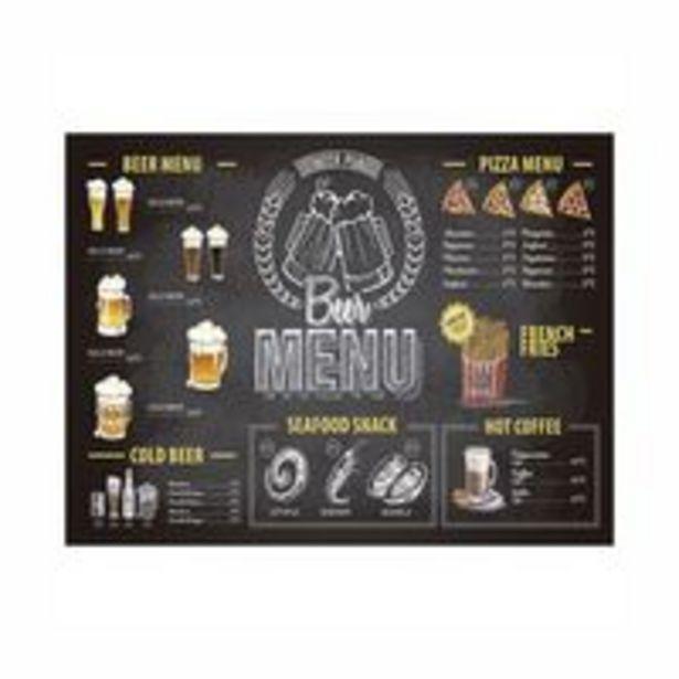 Oferta de Tábua Retangular Dynasty Beer Time em Vidro 40x30cm por R$29,99