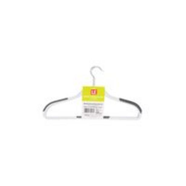 Oferta de Cabide Le Flex Plástico com 3 Unidades Antiderrapante Branco por R$8,99