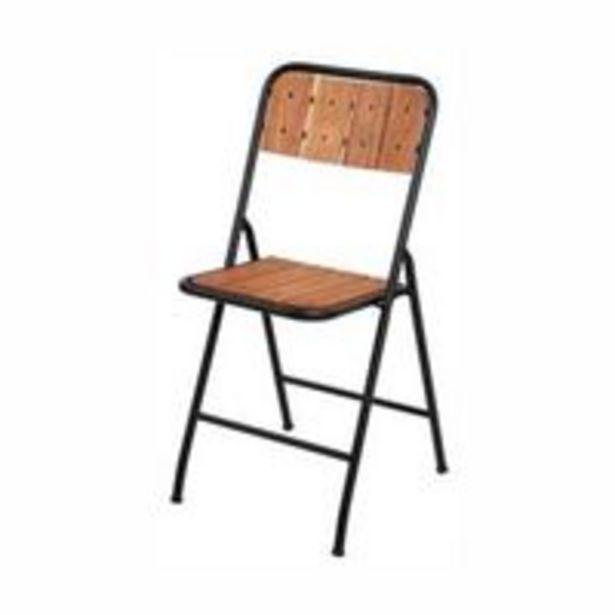 Oferta de Cadeira Dobrável Amazonas Tubo Industrial Madeira Natural por R$219,99