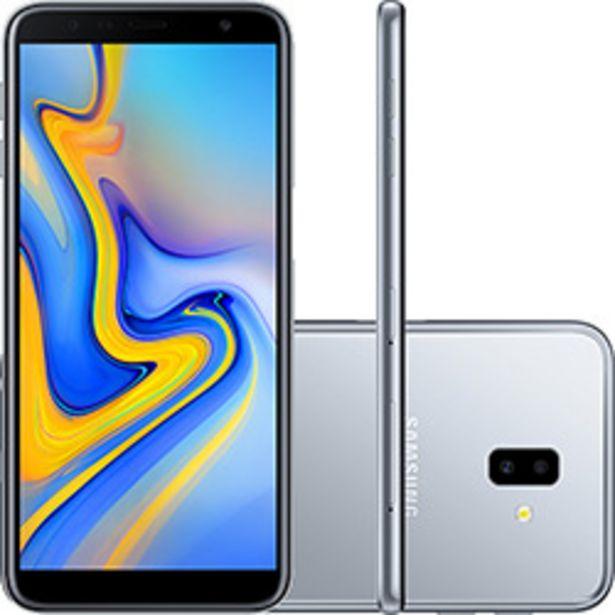 """Oferta de Smartphone Samsung Galaxy J6+ 32GB Dual Chip Android Tela Infinita 6"""" Quad-Core 1.4GHz 4G Câmera 13 + 5MP (Traseira) - Prata por R$899"""