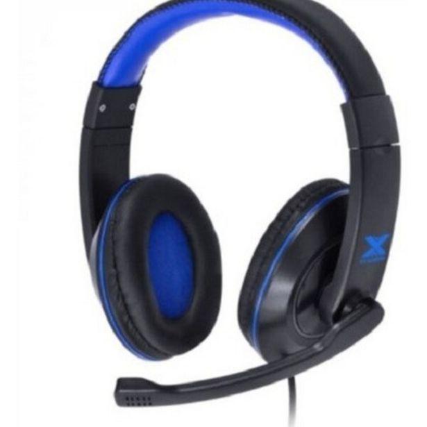 Oferta de Fone Headset Gamer Vx Gaming V Blade Ii P2 Estereo C/ Microfone Retratil E Ajuste De Haste - Preto Com Azul por R$144