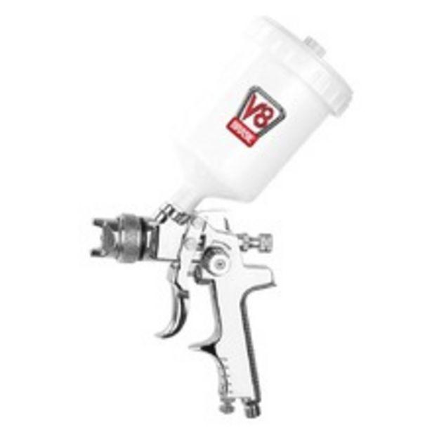 Oferta de Pistola de pintura HVLP tipo gravidade bico de 1,4 mm - HVLP 8 Plus - V8 Brasil por R$204,9