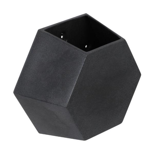 Oferta de Vaso Plastico de Parede Colmeia Antique Preto 30x30cm Naterial por R$89,99