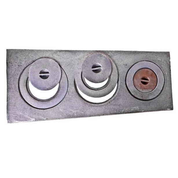 Oferta de Chapa para Fogão de Ferro Fundido 3 Furos com Redução 28cmx33cmx75cm ABrazilian por R$161,99