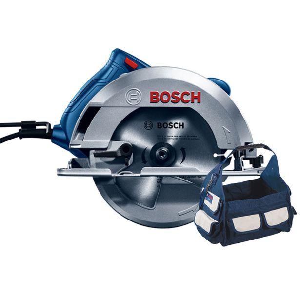 """Oferta de Serra Circular 7.1/4"""" 1500W GKS 150 com Bolsa, Disco e Guia 127V (110V) Bosch por R$766,27"""