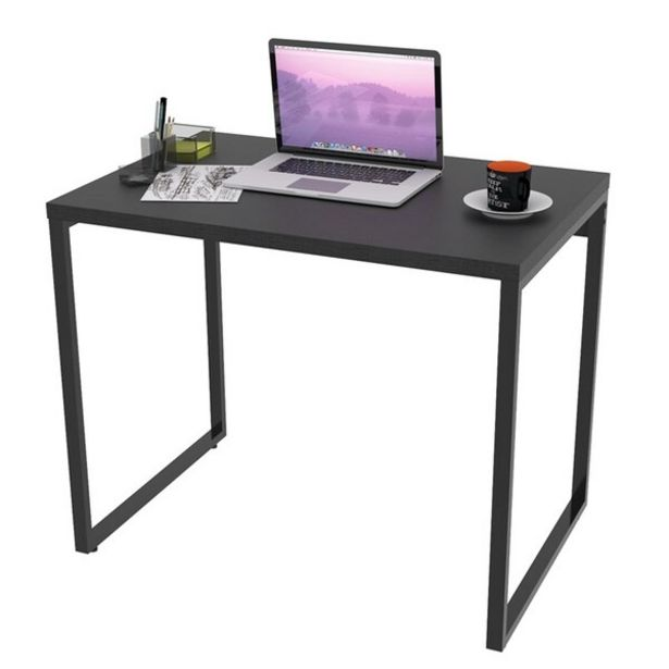 Oferta de Mesa De Escritório Office 90cm Estilo Industrial Prisma Preto Onix - Mpozenato por R$276,9