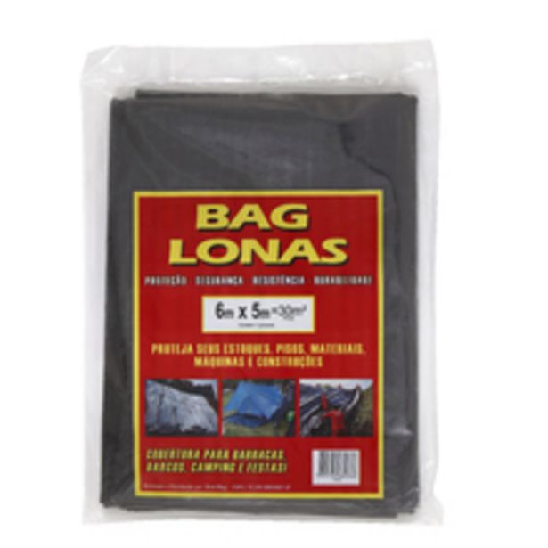 Oferta de Lona Plástica Preta 6x5m Brasil Bag por R$25,52
