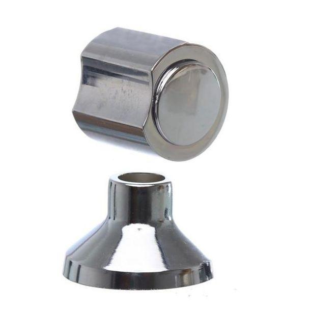 """Oferta de Acabamento Para Registro De Pressão E Gaveta Metal Cromado 1.1/2"""" C40 por R$18,9"""