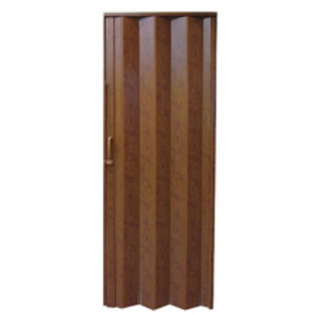 Oferta de Porta Sanfonada Lisa Plástico Imbuia Marrom 2,10x0,96m Hoggan por R$174,99