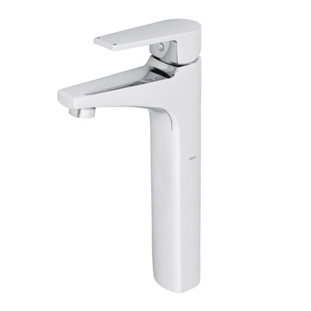 Oferta de Torneira Monocomando para Pia de Banheiro Bica Alta Cromada Level Deca por R$827,9