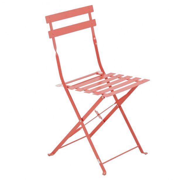 Oferta de Cadeira Dobrável Aço Flora Origami 80x41x47cm Laranja Naterial por R$149,9