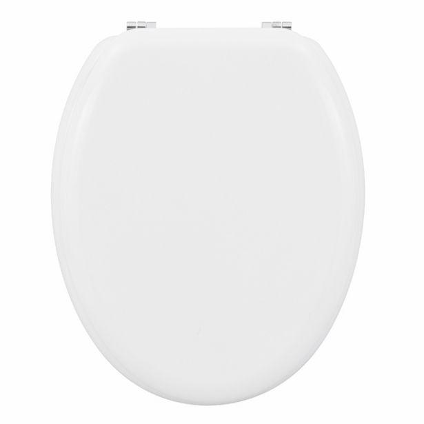 Oferta de Assento Sanitário Convencional Madeira Moldada Branco POP Sensea por R$129,9