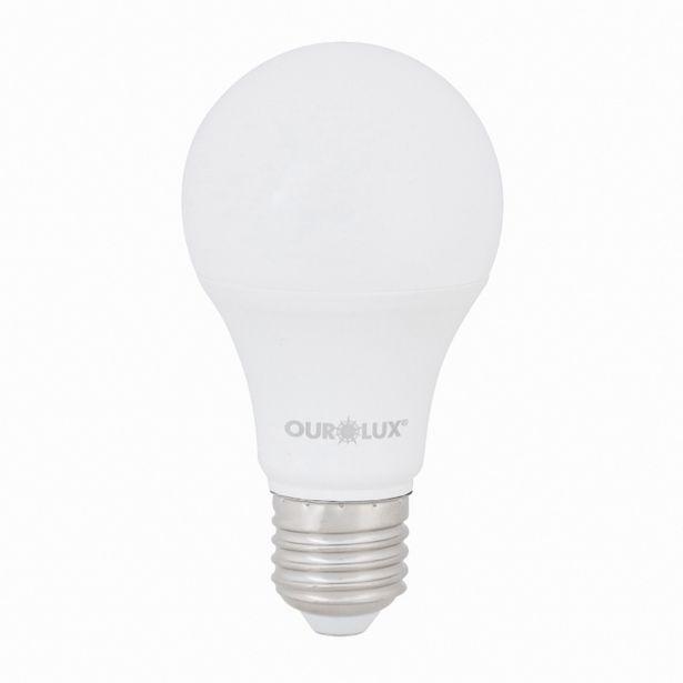 Oferta de Lâmpada LED Bulbo Luz Amarela 9W Ourolux Bivolt por R$8,99