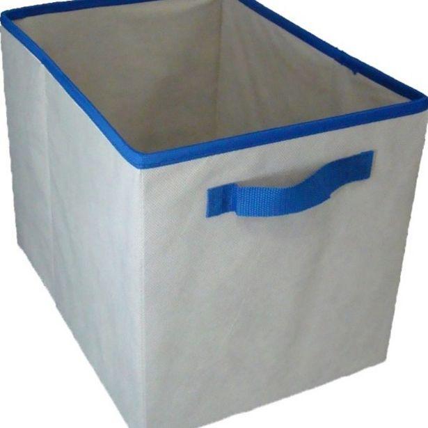 Oferta de Caixa Organizadora De Tecido Organibox   C/ Alça De 28x31x38cm Azul por R$33