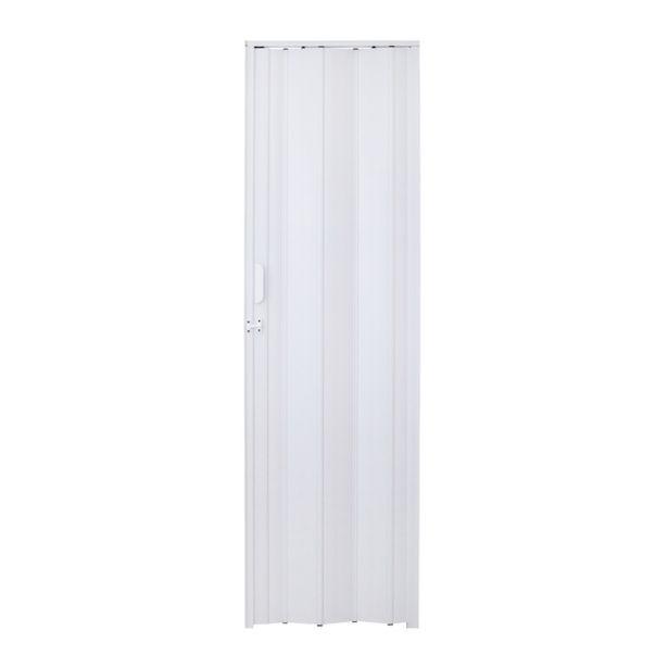 Oferta de Porta Sanfonada Lisa PVC Branco 2,10x0,84m Artens por R$169,9