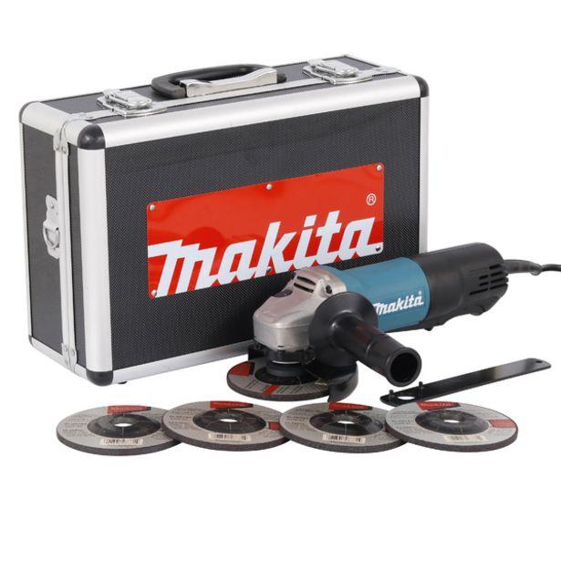 """Oferta de Esmerilhadeira Angular 4.1/2"""" 840W 9557HPGX2 5 discos 127V (110V) Makita por R$545,9"""