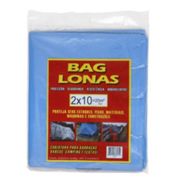 Oferta de Lona Plástica Azul 2x10m Brasil Bag por R$29,9