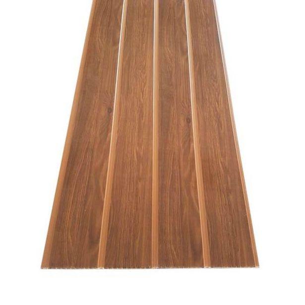 Oferta de Forro Pvc Em Régua Espaçoforro Wood Slim Castanho 7mm X 25cm X 3,95m Caixa Com 5 Unidades por R$300,95