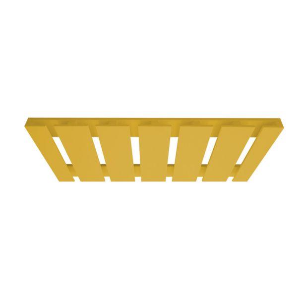Oferta de Porta Taças Reto Suporte Decorativo para Adegas Bar Amarelo Laca por R$188