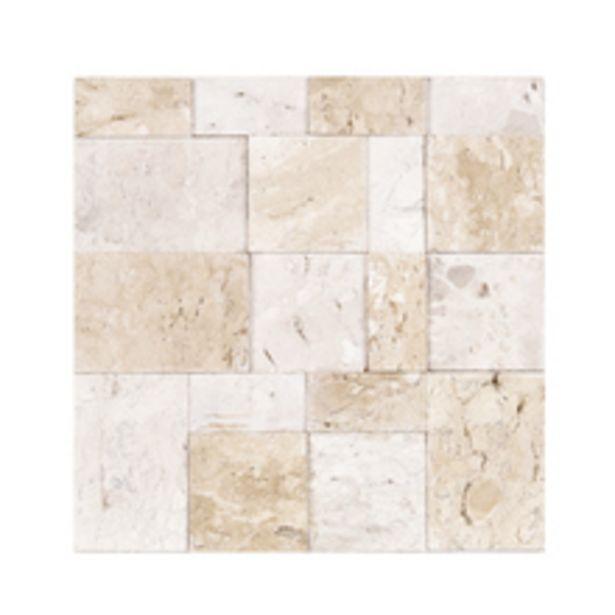 Oferta de Mosaico Carré Travertino 28x28cm Forte Dei Marmi por R$31,4