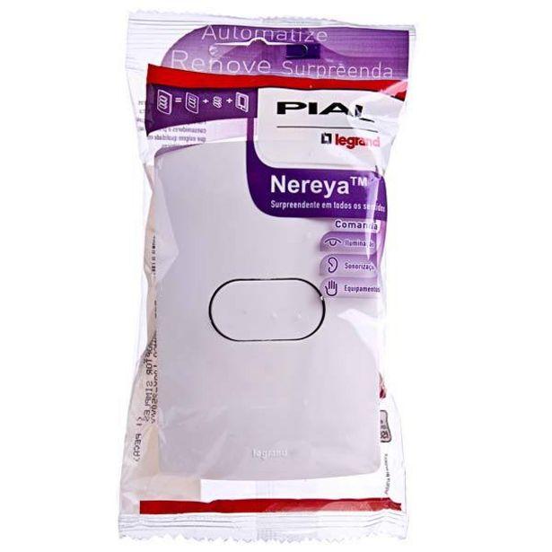 Oferta de Conjunto de Interruptor Simples 10A Branco Nereya Pial Legrand por R$15,29