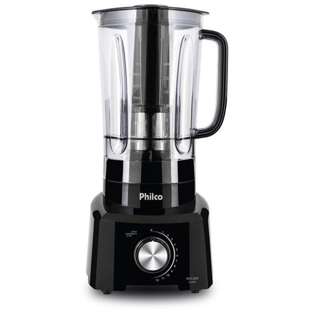 Oferta de Liquidificador Philco Ph1200 Preto 1200w 127v por R$189,9