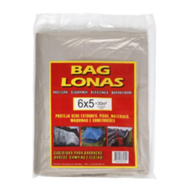 Oferta de Lona Plástica Transparente Canela 6x5m Brasil Bag por R$47,12