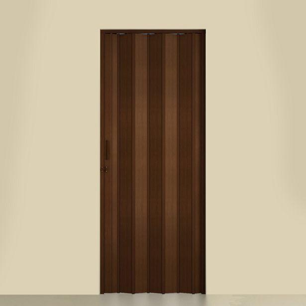 Oferta de Porta Sanfonada Lisa PVC Imbuia 2,10x0,72m Artens por R$175,9