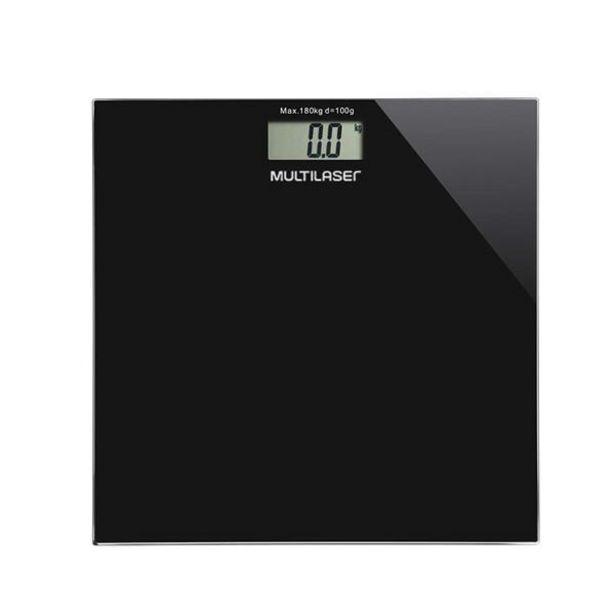 Oferta de Balança Digital Digi-Health Preta Multilaser HC022 por R$79,9