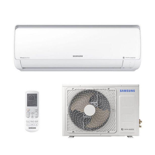 Oferta de Ar Condicionado Split Digital Inverter Samsung 22000 Btus Frio 220v Monofasico Ar24nvfpcwknaz por R$3498
