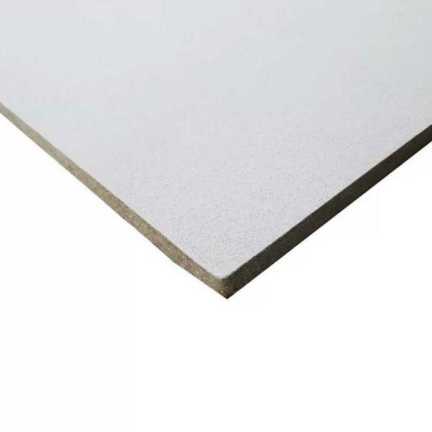 Oferta de Forro De Fibra Mineral Armstrong Ceilings Sierra Tegular Branco 625 X 625 X 13mm por R$588,43