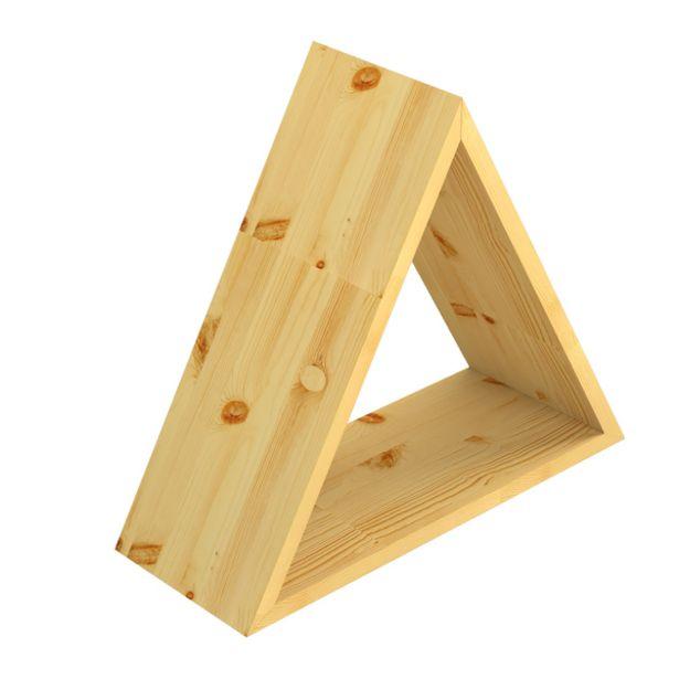 Oferta de Nicho 40x40x15cm Madeira Bege Triangular Folk Montfácil por R$89,91